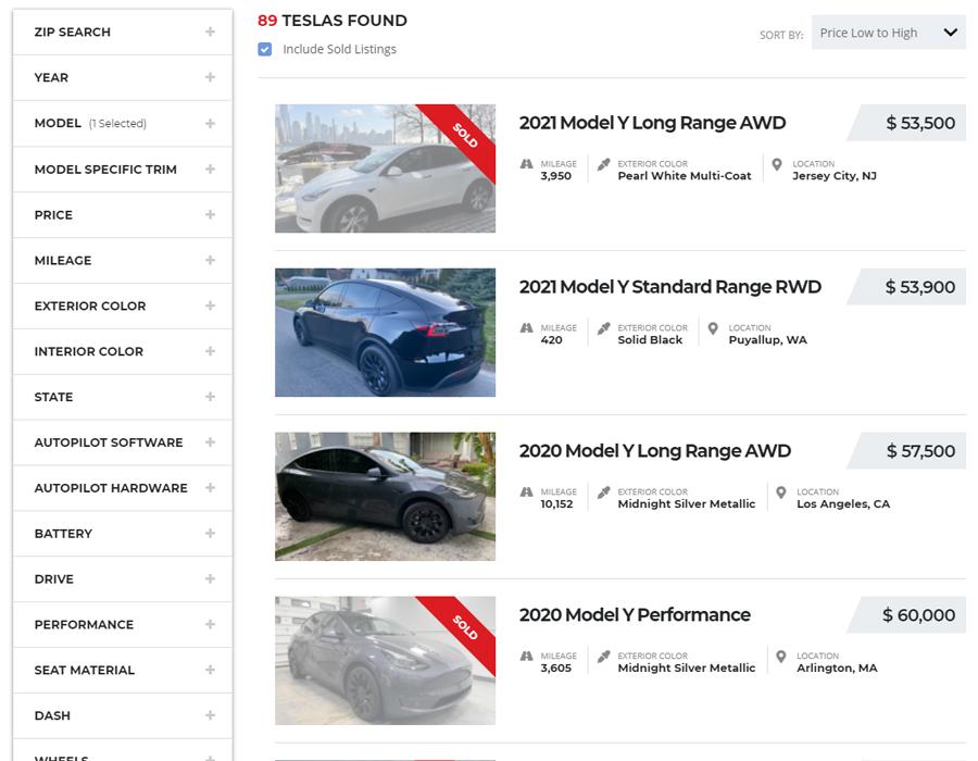 Cheap Used Tesla Model Y