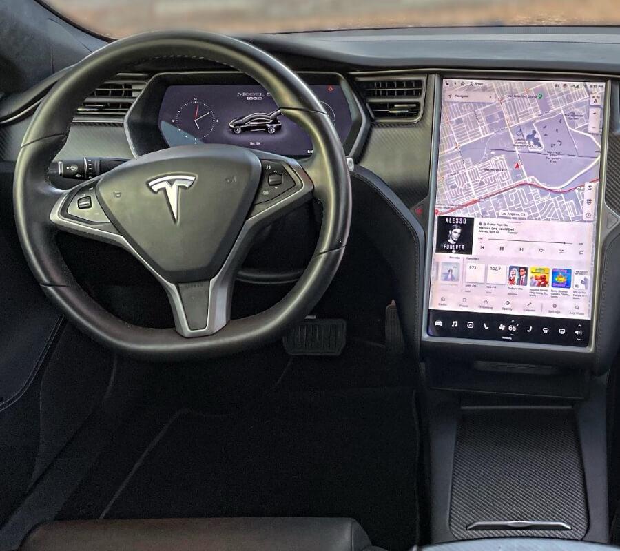 Model S 100D Black Interior