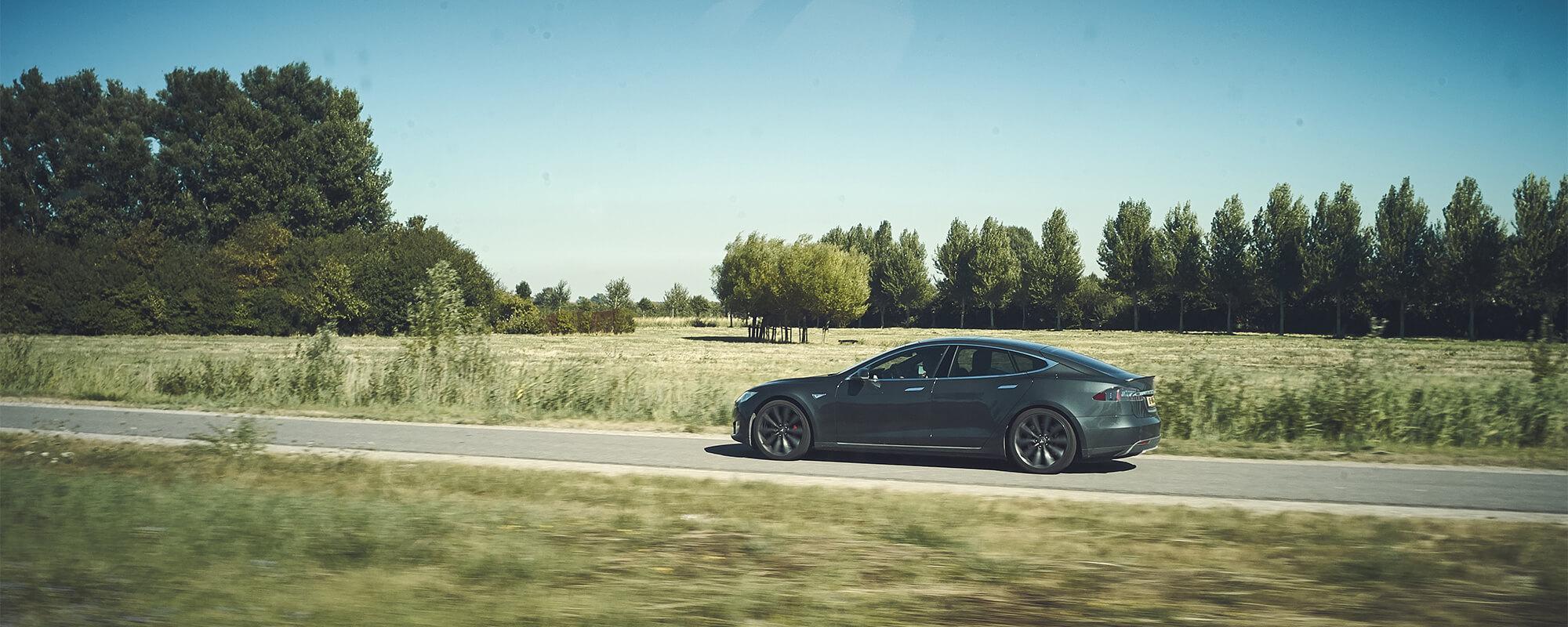 Model S Driving in Field