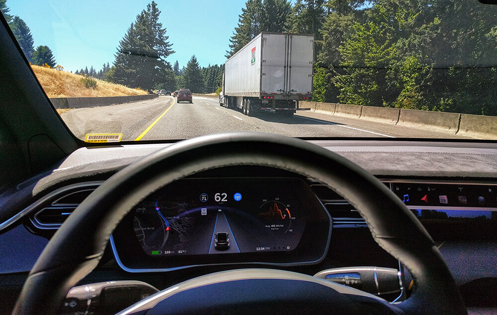 Tesla Autopilot Engaged in Model X
