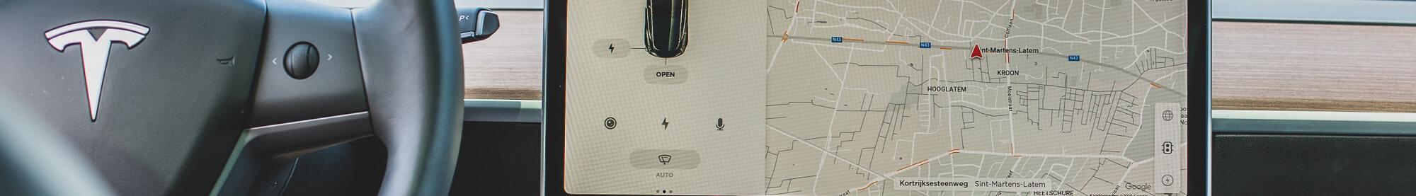 Tesla Autopilot Touchscreen