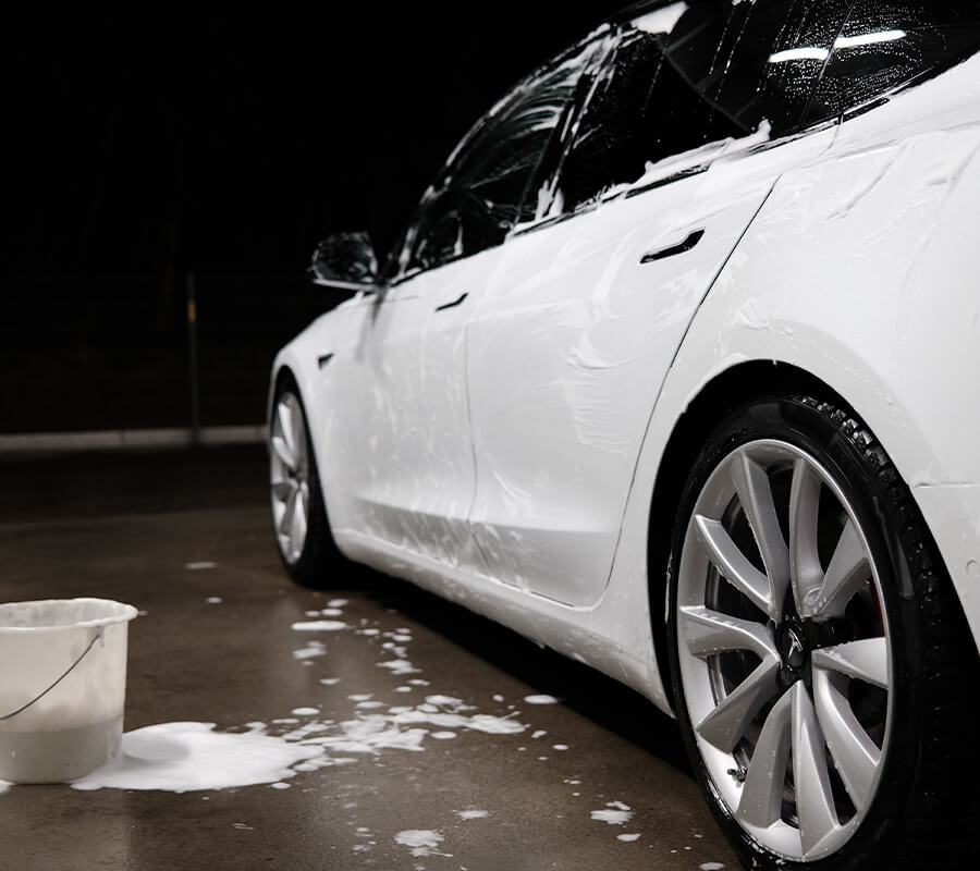 Tesla Model 3 Car Wash