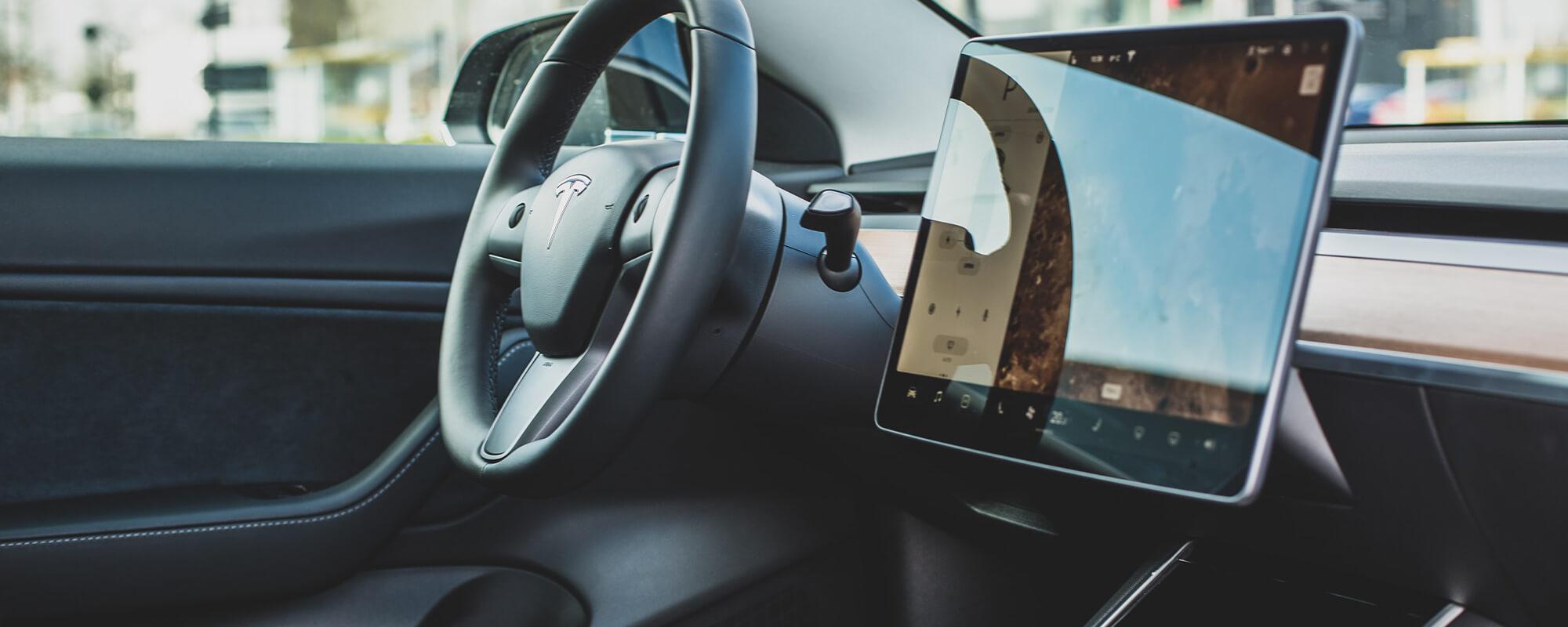 Tesla Model 3 Interior background