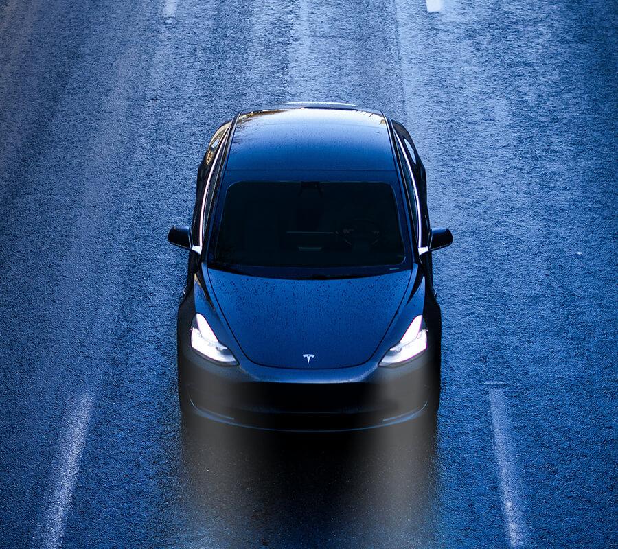 Tesla Model 3 Rain