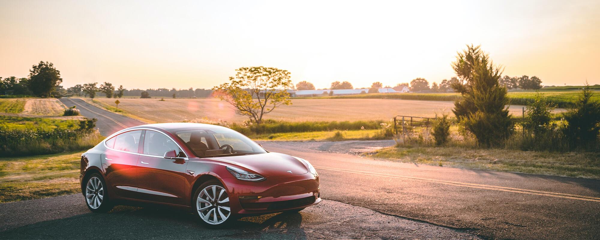 Tesla Model 3 Sunset