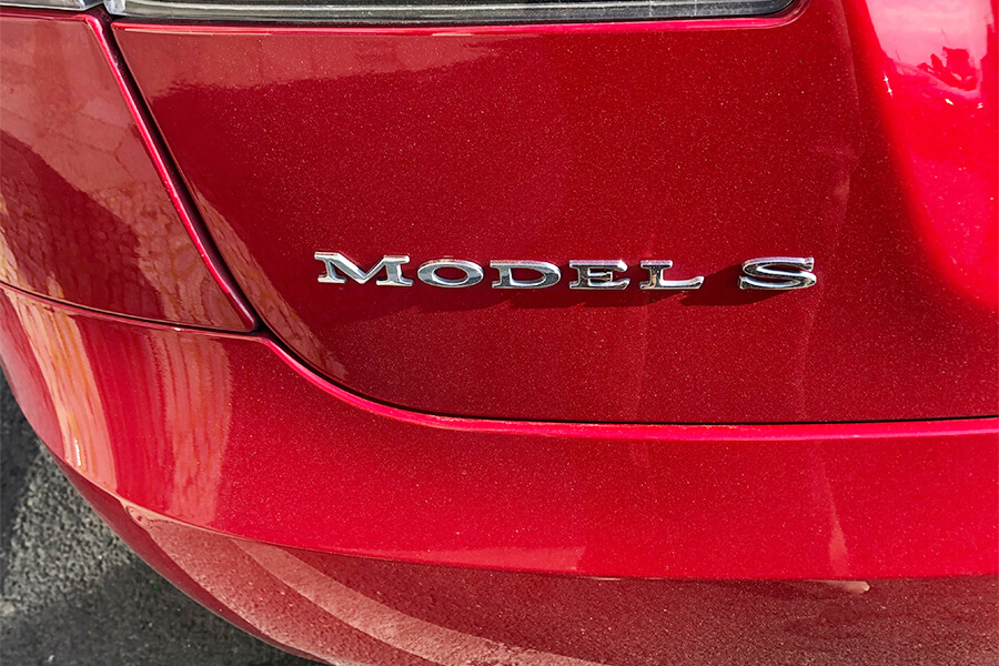 Tesla Model S Badge