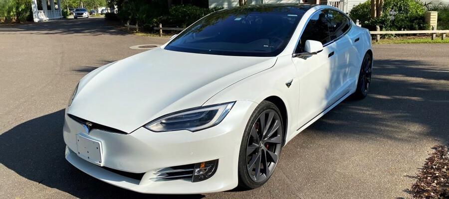 Tesla Model S P100DL Pearl White Multi-Coat