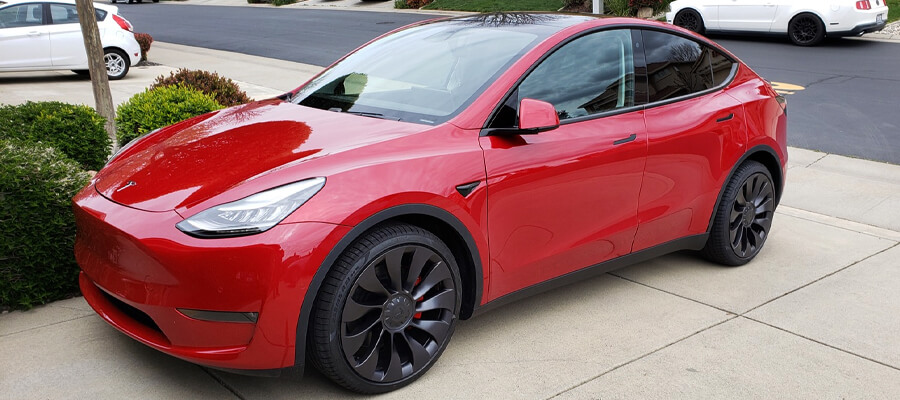 Tesla Model Y Performance Red Multi-Coat