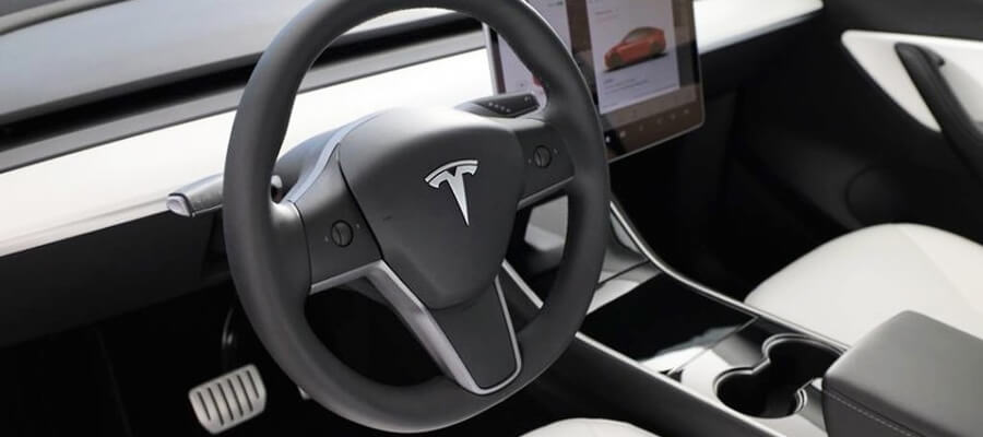 Tesla Model Y Performance White Interior