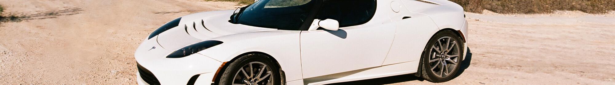 Tesla Roadster Arctic White