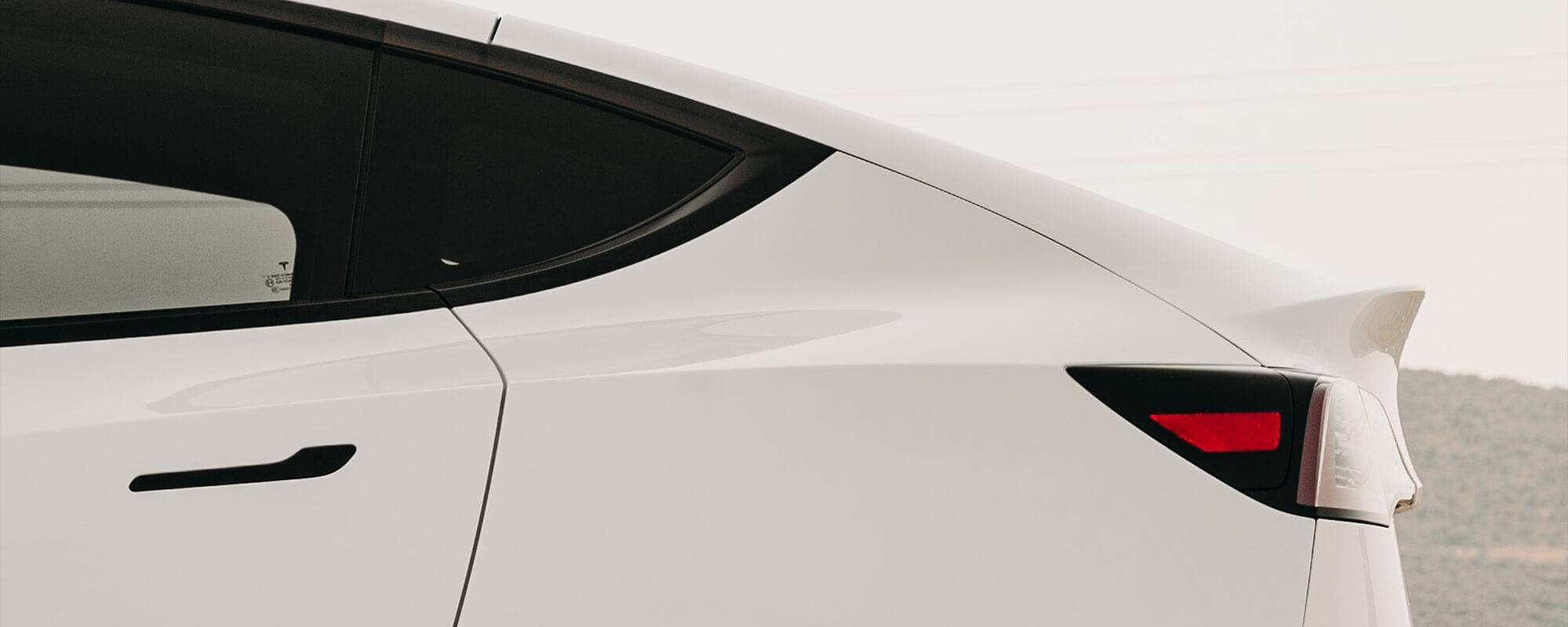 White Tesla Model Y